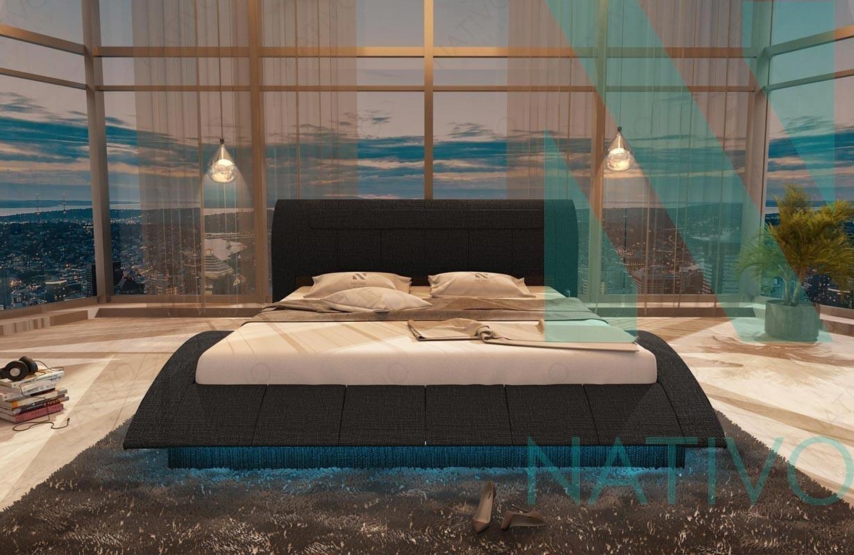 lederbett amsterdam inkl usb anschluss nativo m bel schweiz. Black Bedroom Furniture Sets. Home Design Ideas