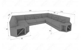 Divano di design AVENTADOR CORNER XL con illuminazione a LED