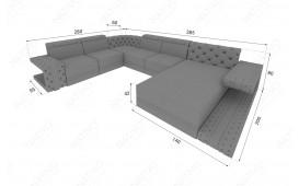 Canapé Design IMPERIAL XXL avec éclairage LED