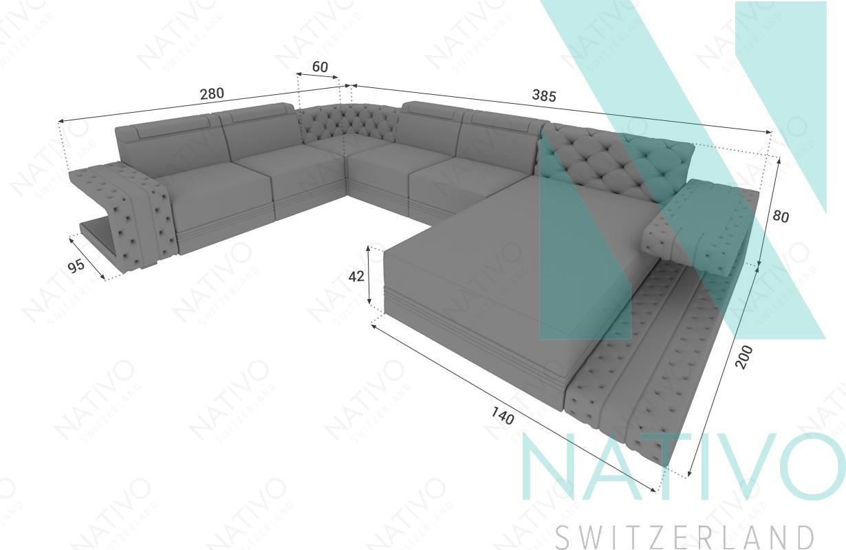 Divano modulare imperial xxl nativo mobili zurigo