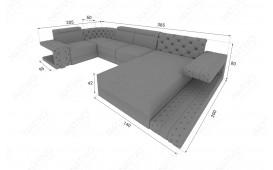 Designer Sofa IMPERIAL XL mit LED Beleuchtung von NATIVO Möbel Schweiz