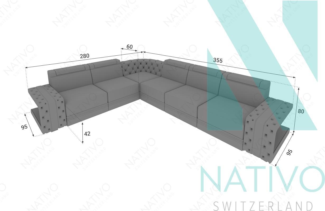 Ledersofa IMPERIAL CORNER bei NATIVO Möbel Schweiz online kaufen