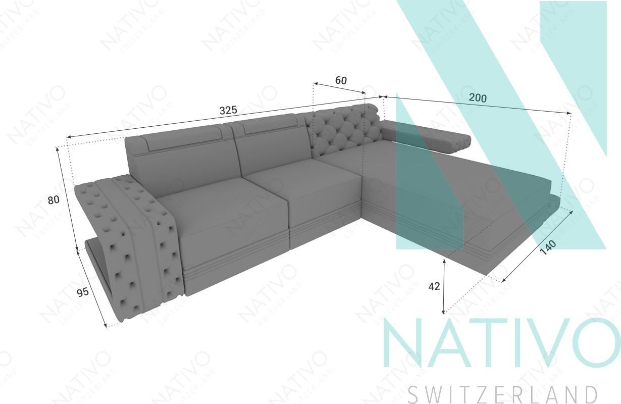 Ledersofa IMPERIAL MINI bei NATIVO Möbel Schweiz online kaufen