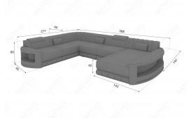 Canapé Design ATLANTIS XXL avec éclairage LED