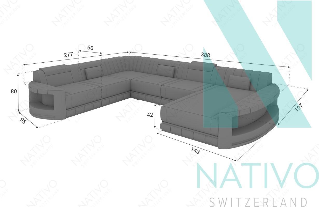 Edles Ledersofa Atlantis Xxl Bei Nativo Möbel Schweiz Günstig Kaufen