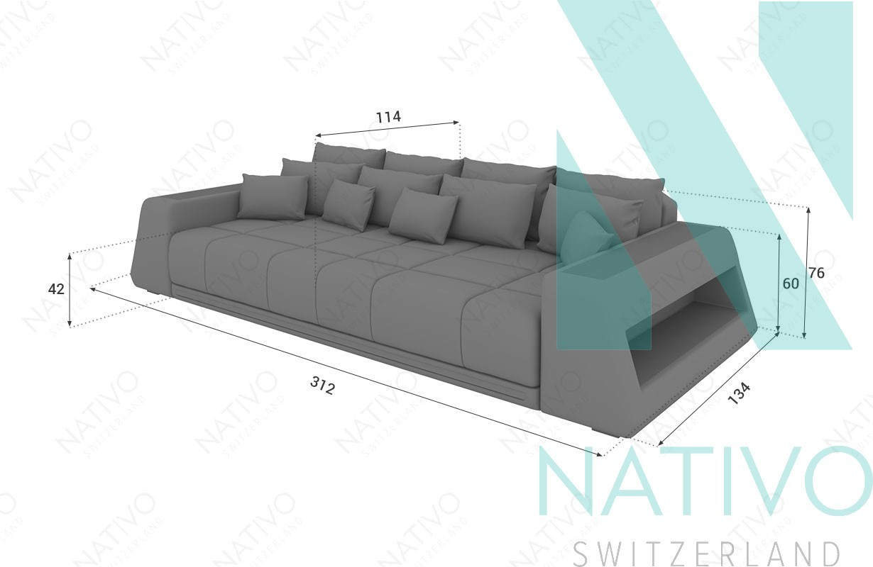 edles ledersofa big sofa vice bei nativo m bel schweiz. Black Bedroom Furniture Sets. Home Design Ideas