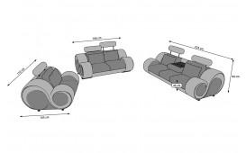 Divano di design BARACUDA 3+2+1 con funzione relax