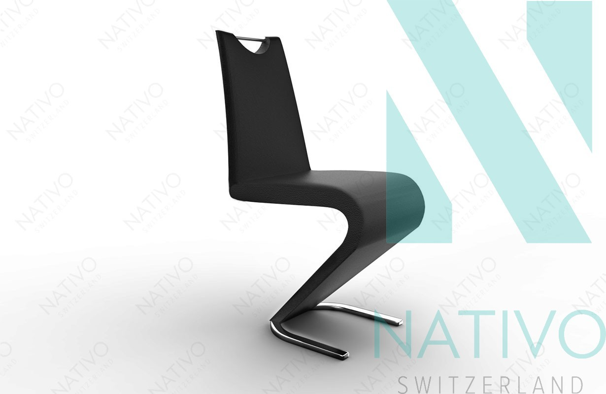 stuhl ardo schwarz designer bei nativo m bel schweiz g nstig kaufen. Black Bedroom Furniture Sets. Home Design Ideas