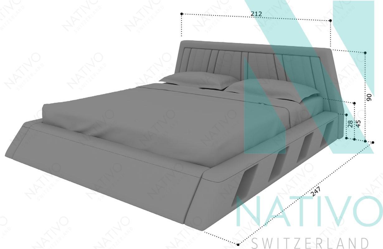 Lit lenox avec clairage led nativo chambre coucher - Eclairage lit ...