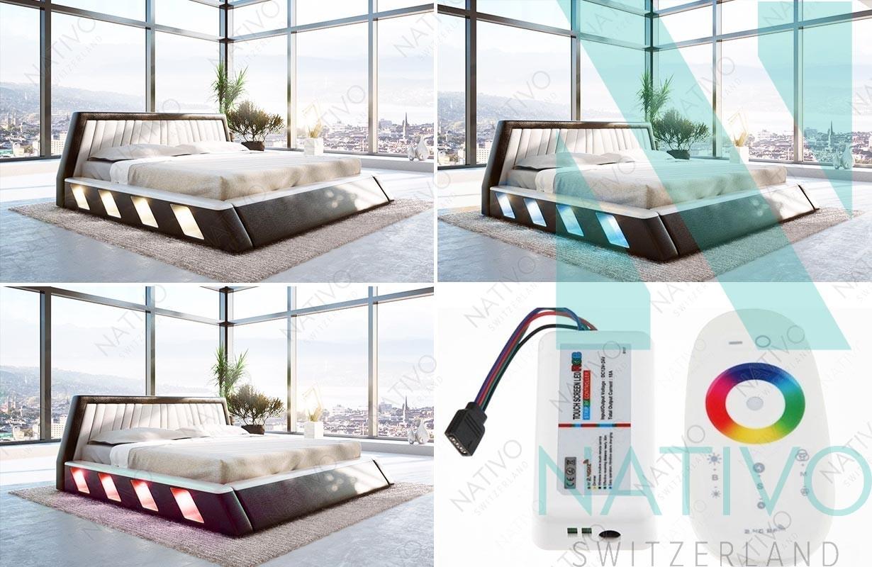 ... Designer Lederbett LENOX Mit LED Beleuchtung Von NATIVO Möbel Schweiz · Designer  Bett ...
