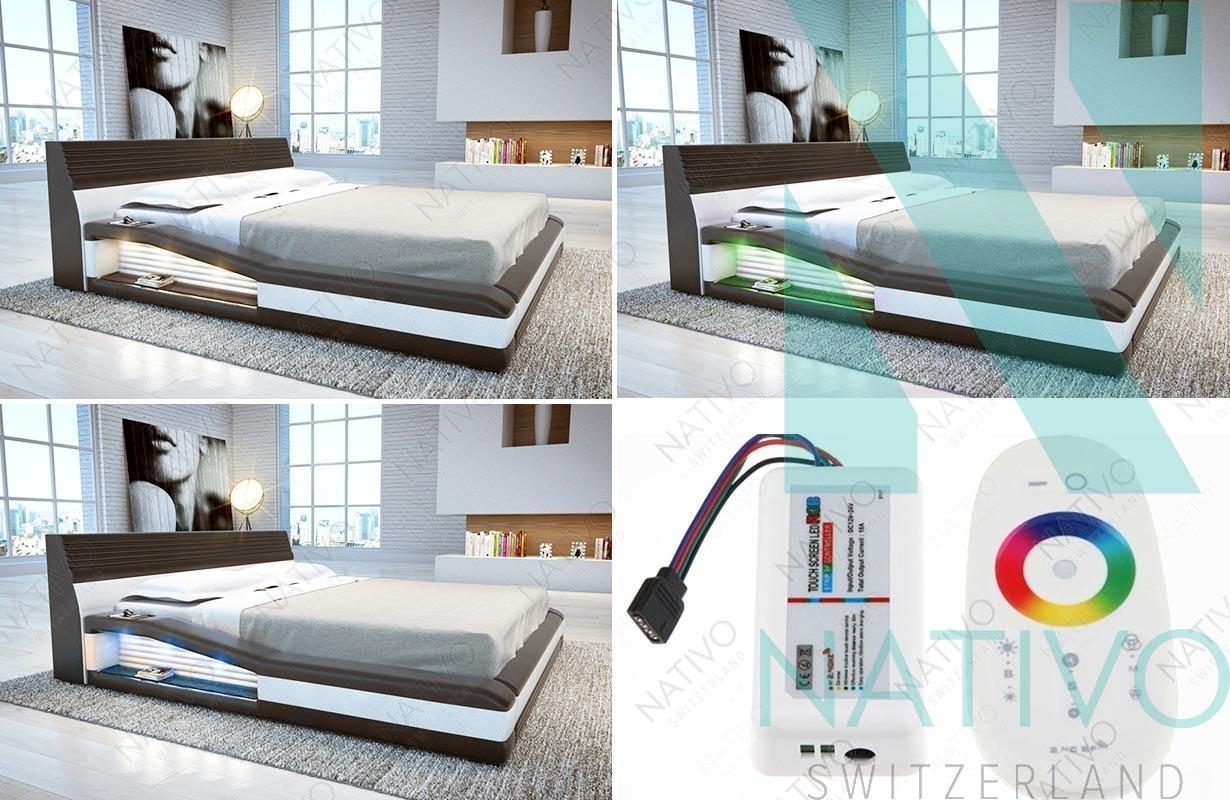 Letto con luci led tyson nativo mobili camera da letto - Illuminazione camera da letto led ...