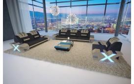 Designer Sofa MYSTIQUE 3+2+1 mit LED Beleuchtung & USB Anschluss von NATIVO Möbel Schweiz