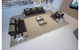 Canapé Design MYSTIQUE 3+2+1 avec éclairage LED et port USB