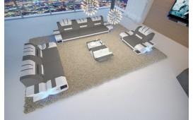 Divano di design MYSTIQUE 3+2+1 con illuminazione a LED  e presa USB