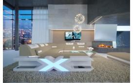 Canapé Design MYSTIQUE XXL avec éclairage LED & un port USB