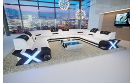 Designer Sofa MYSTIQUE CORNER U FORM mit LED Beleuchtung & USB Anschluss von NATIVO Möbel Schweiz