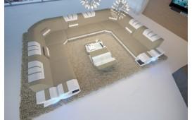 Canapé Design MYSTIQUE CORNER U FORM avec éclairage LED & un port USB