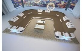 Divano di design MYSTIQUE CORNER U FORM con illuminazione a LED  e presa USB