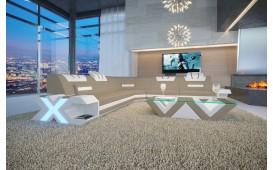Divano di design MYSTIQUE CORNER con illuminazione a LED  e presa USB