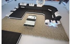 Canapé Design MYSTIQUE XL avec éclairage LED et port USB