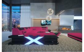 Divano di design MYSTIQUE XL con illuminazione a LED  e presa USB