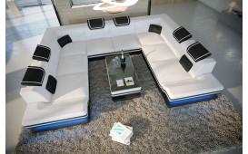 Divano di design ROUGE CORNER U FORM con illuminazione a LED e presa USB