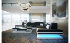 Divano di design ROUGE CORNER con illuminazione a LED e presa USB