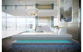 Canapé Design ROUGE XL avec éclairage LED & port USB