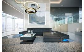 Canapé Design ROUGE MINI avec éclairage LED & port USB NATIVO™ meubles France