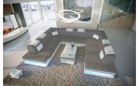 Designer Sofa ROUGE CORNER U FORM mit LED Beleuchtung & USB Anschluss von NATIVO™ Möbel Deutschland