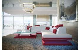 Canapé Design ROUGE CORNER avec éclairage LED & port USB NATIVO™ meubles France
