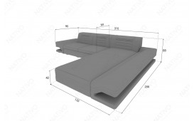 Canapé Design ROUGE MINI avec éclairage LED & port USB