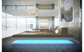 Canapé Design ROUGE XXL DUO avec éclairage LED & port USB