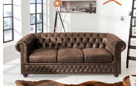 Sofa CHESTERFIELD 3er VINTAGE Spaltleder von NATIVO™ Designer Möbel Schweiz