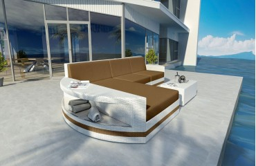 Divano Lounge ATLANTIS MINI v2 in rattan NATIVO™ Möbel Schweiz
