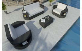 Rattan Lounge Set ATLANTIS 2+1+1 v1 NATIVO™ Möbel Schweiz
