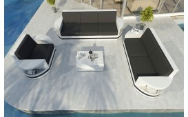 Set Lounge ATLANTIS 3+2+1 in rattan