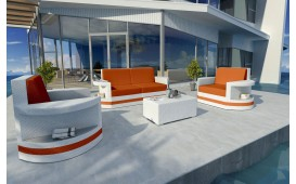 Lounge Set en rotin ATLANTIS 2+1+1 v2 NATIVO™ Möbel Schweiz