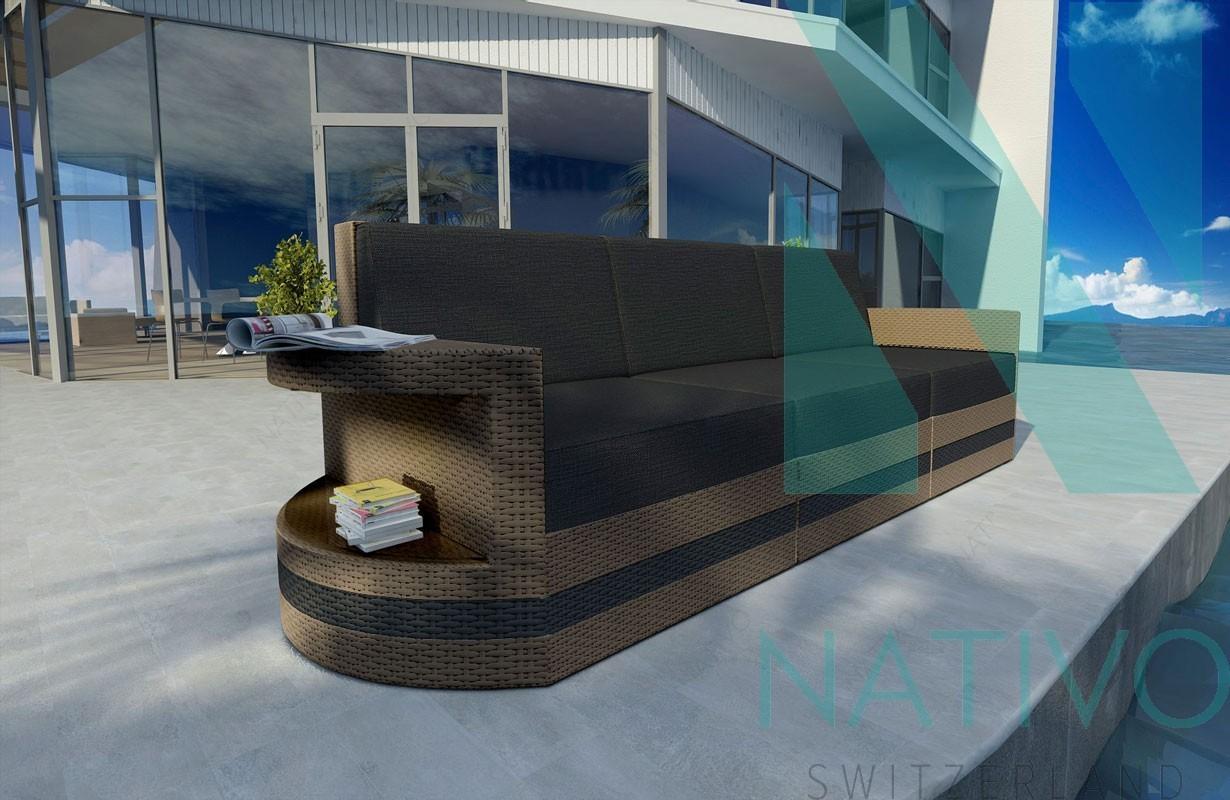 Rattan Lounge Sofa Atlantis 3 Sitzer V2 In Rattan Von