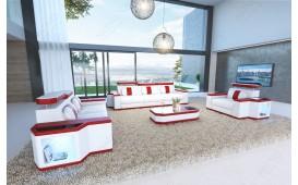 Designer Sofa CESARO XXL mit LED Beleuchtung