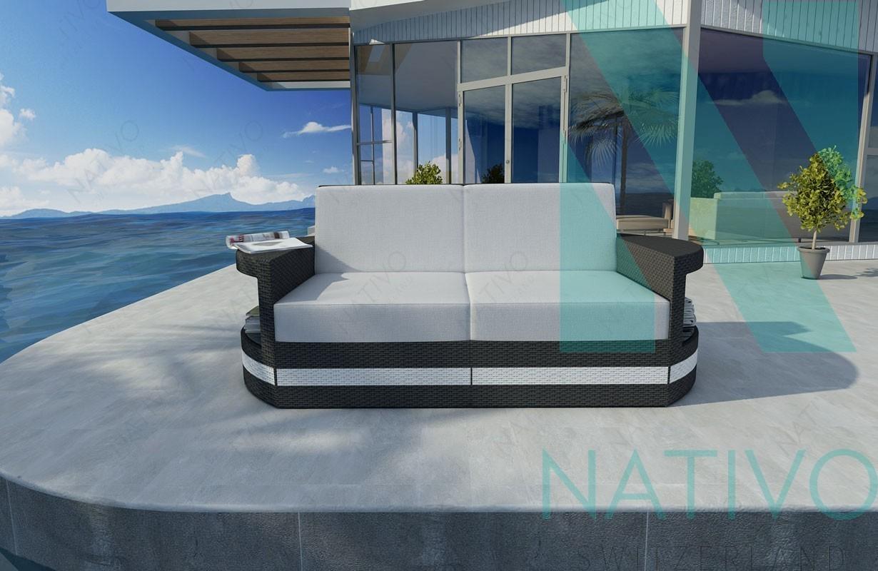 Rattan lounge sofa atlantis 2 sitzer v2 in rattan von for Lounge mobel 2 sitzer
