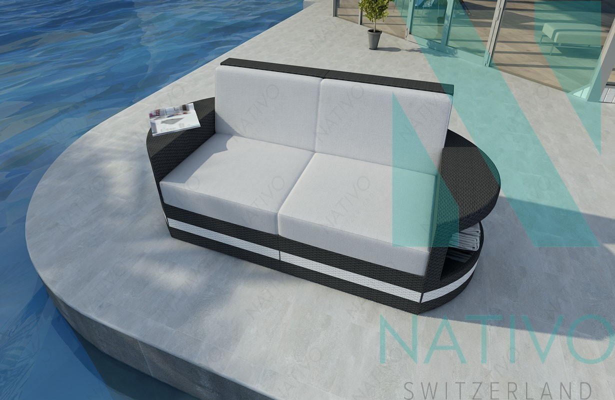 rattan lounge sofa atlantis 2 sitzer v2 von nativo m bel. Black Bedroom Furniture Sets. Home Design Ideas