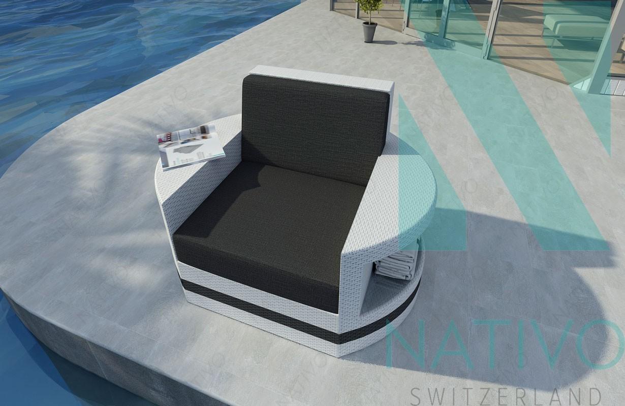 Rattan lounge sofa atlantis 1 sitzer v2 in rattan von for Lounge mobel 2 sitzer