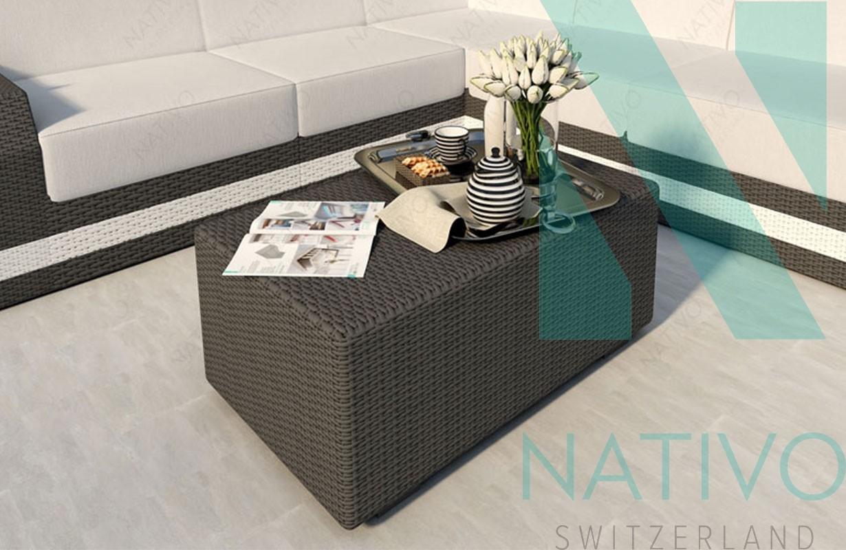Design Rattan Couchtisch MESIA bei NATIVO Möbel Schweiz günstig kaufen