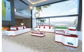 Designer Sofa CESARO 3+2+1 mit LED Beleuchtung