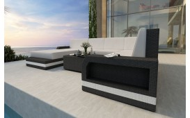 Canapé Lounge en rotin MESIA XXL v2