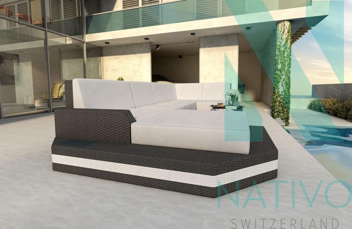 Divano per il giardino mesia xl v2 nativo mobili in rattan for Divano in rattan