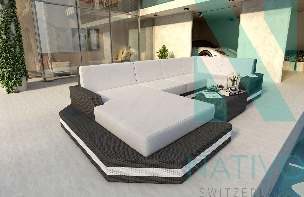 Rattan Sofa Lounge Modular MESIA XL v2 von NATIVO Möbel
