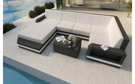 Canapé Lounge en rotin MESIA XL v2