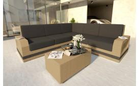 Canapé Lounge en rotin MESIA CORNER v2
